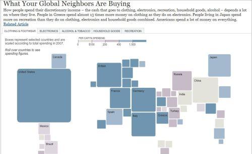 mapa mundo consumo