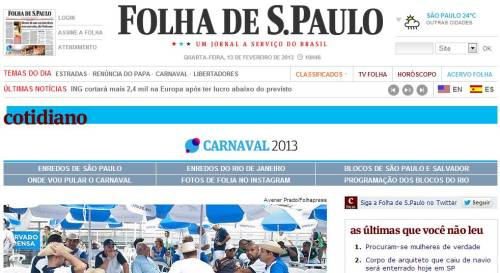carnaval folha